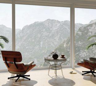 duże okno z pięknym widokiem